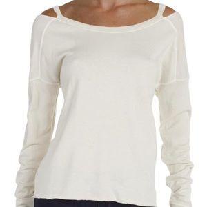 NWT Petra Pullover Raw Hem Distressed Sweatshirt